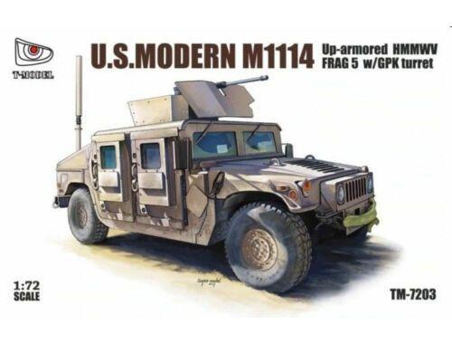 T-Model U.S.Modern M1114 Up-armored HMMWV FRAG 5 w/GPK turret 1:72 (TM7203)