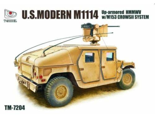 T-Model U.S.Modern M1114 Up-armored HMMWV w/M153 CROWSII System 1:72 (TM7204)