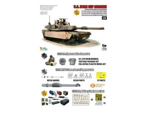 T-Model U.S.M1A2 SEP ABRAMS SEP TUSKI 1:72 (TK7310G)