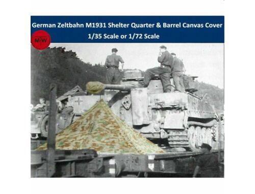 T-Model WWII German Zeltbahn M1931 Shelter Quarter & Barrel Canvas Cover Resin Kits 1:35 (A35001)