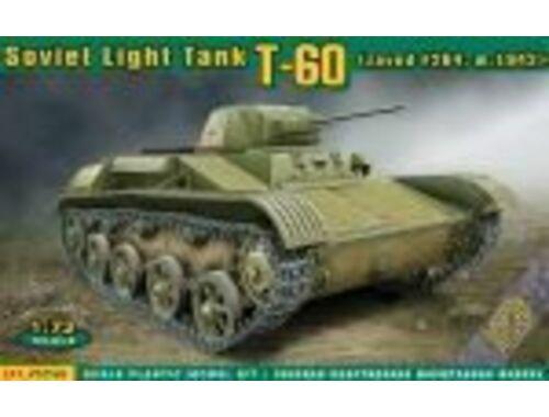 ACE T-60 Soviet light tank(zavod #264,m1942) 1:72 (ACE72540)