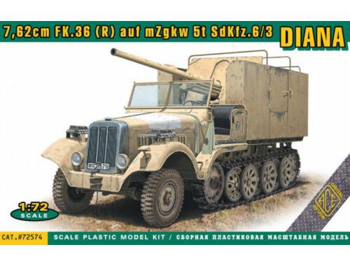 ACE Sdkfz.6/3 DIANA 7,62cm FK.36 (R) auf mZgkw 5t 1:72 (ACE72574)