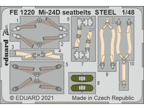 Eduard Mi-24D seatbelts STEEL 1/48 EDUARD/ZVEZDA 1:48 (FE1220)
