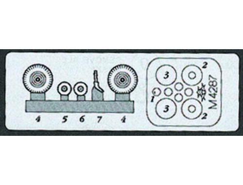 Aires Yak-7 wheels + paint mask 1:48 (4287)