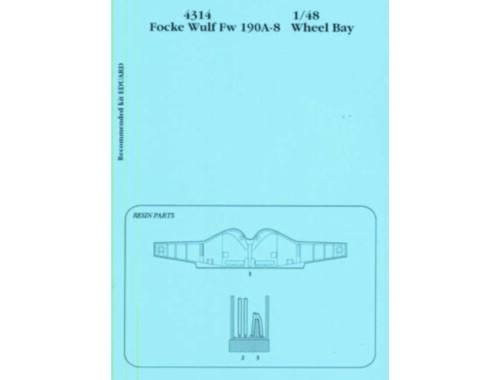 Aires FW 190A-8 wheel bay Für Eduard-Bausatz 1:48 (4314)