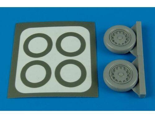 Aires J35 Draken wheels & paint masks für Hasegawa Bausatz 1:48 (4405)
