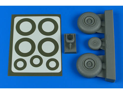 Aires Do 217N wheels & paint masks - late A for ICM 1:48 (4804)