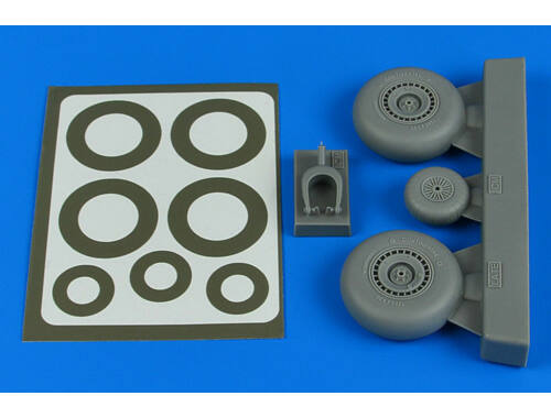 Aires Do 217N wheels & paint masks - late B for ICM 1:48 (4806)