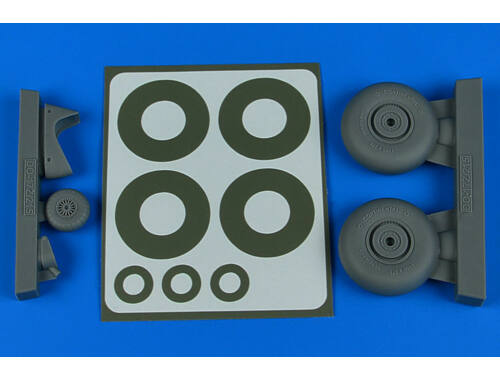 Aires Do 215 wheels & paint masks for ICM 1:48 (4816)