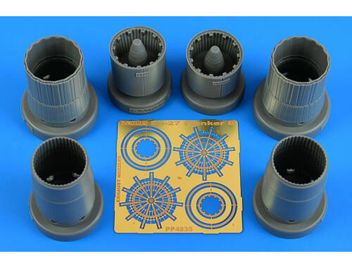 Aires Su-27 Flanker B exhaust nozzles for KITTY HAWK 1:48 (4835)