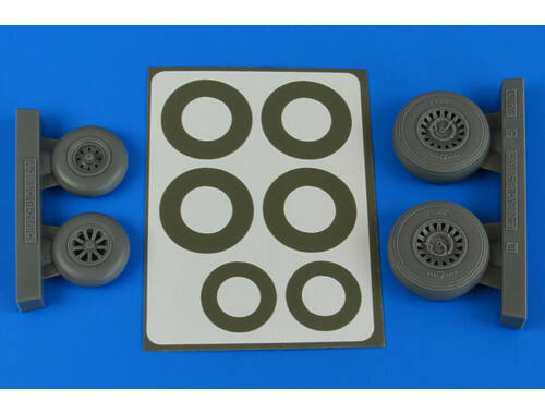 Aires A-26B/C (B-26B/C) Invader wheels & paint masks early for ICM 1:48 (4841)