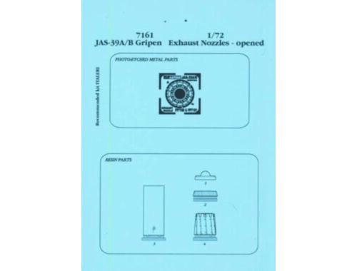 Aires JAS-39A/B Gripen Schubdüsen - offen für Italeri Bausatz 1:72 (7161)