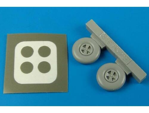 Aires Hurricane wheels & paint masks for Hasegawa kit 1:72 (7203)