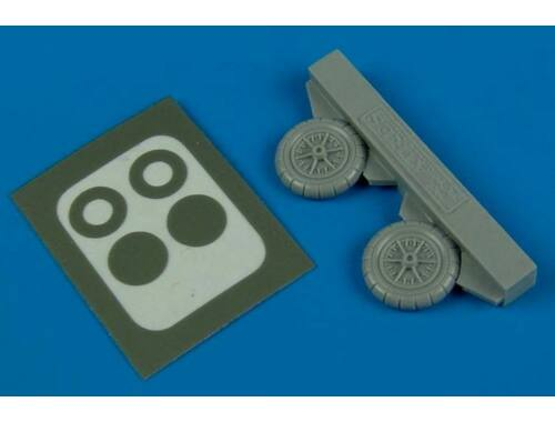 Aires Bf 109E/F wheels 1:72 (7245)