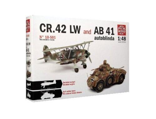 Italeri CR.42 LW   Autoblinda AB 41 1:48 (10-5001)