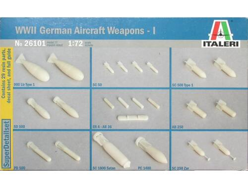 Italeri WW 2nd German aircraft weapons bombs (26101)