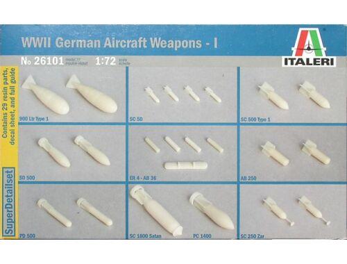 Italeri WW 2nd German aircraft weapons bombs (26101)