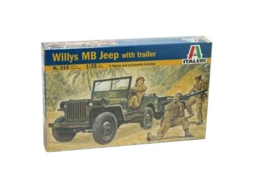 Italeri Willys MB Jeep with trailer 1:35 (314)