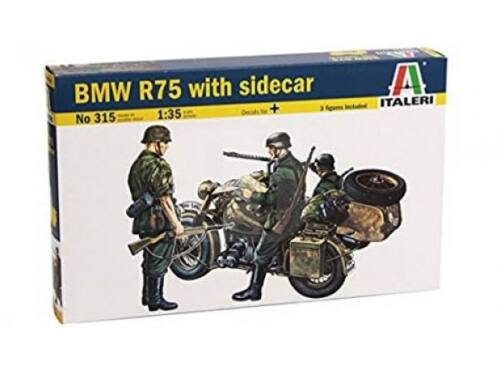 Italeri BMW R75 with Sidecar 1:35 (0315)