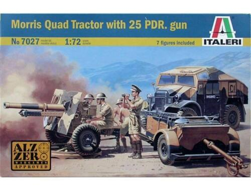 Italeri Morris Quad Tractor with 25 PDR. Gun 1:72 (7027)