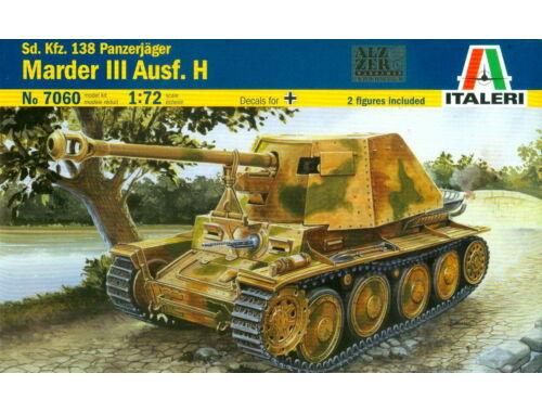 Italeri Sd.Kfz. 138 Panzerjager Marder III Ausf. H 1:72 (7060)