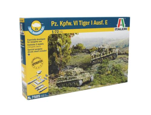Italeri Pz.Kpfw.VI Tiger I Ausf.E (easykit 2pcs) 1:72 (7505)