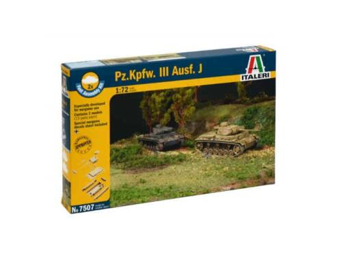 Italeri Pz.Kpfw.III Ausf. J 2in1 Fast Assembly Kit 1:72 (7507)