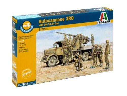 Italeri Autocannone 3RO W/90/53AA Gun Fast Assembly Kit 1:72 (7508)