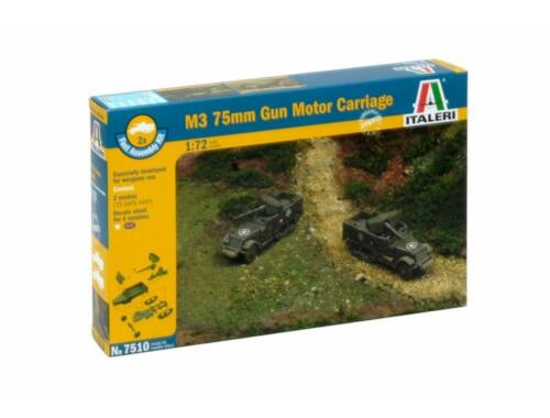 Italeri M3 75mm Gun motor Carriage (easykit 2pcs) 1:72 (7510)