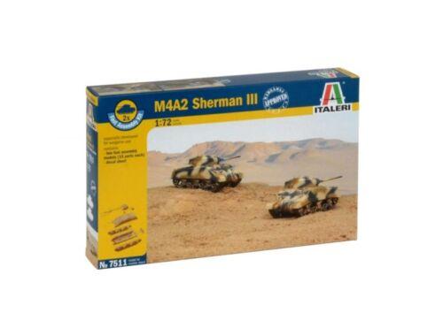 Italeri M4A2 Sherman III (easykit 2pcs) 1:72 (7511)