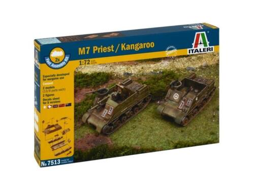 Italeri M7 Priest / Kangaroo 2in1 Fast Assembly Kit 1:72 (7513)