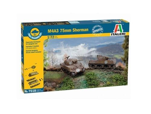 Italeri Sherman M4A3 75mm (easykit 2pcs) 1:72 (7518)