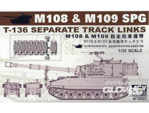 AFV Club M109 SP GUN TRACKS 1:35 (AF35S23)