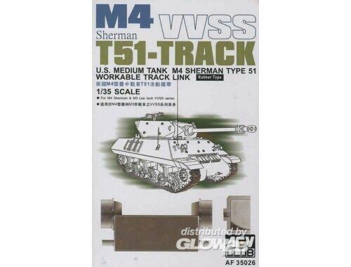AFV Club M4/M3 T51 SHERMAN TRACKS 1:35 (AF35026)