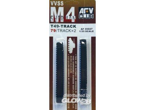AFV Club M4 T49 SHERMAN TRACKS (SOFT RUBBER) 1:35 (AF35027)