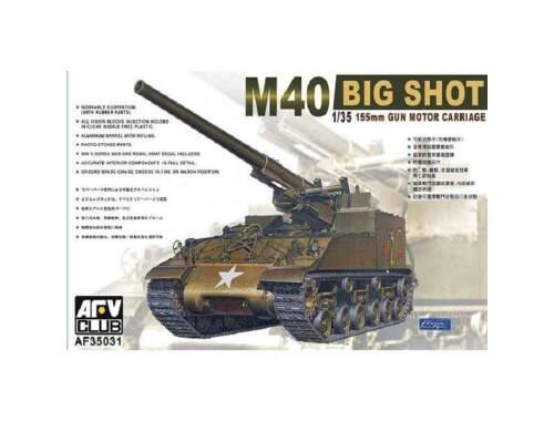 AFV Club M40 Self-Propelled Gun (re-edition) 1:35 (AF35031)