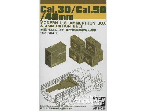 AFV Club CAL.30/ CAL.50/ 40 mm AMMO BOXES 1:35 (AF35035)