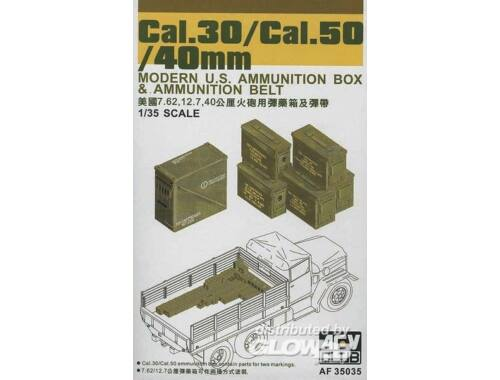 AFV Club CAL.30/ CAL.50/ 40 mm AMMO BOXES 1:35 (AF35035)