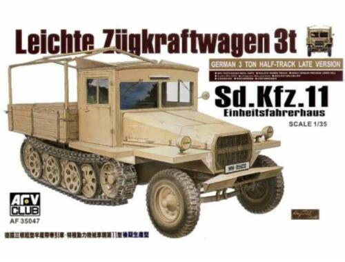 AFV Club Sdkfz11 late version with wood cab 1:35 (AF35047)