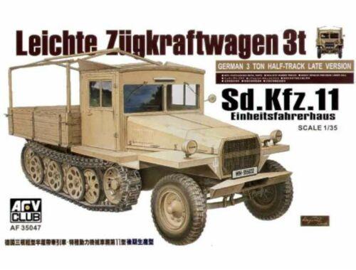 AFV Club Sdkfz11 late version with wood cab 1:35 (AF35047)