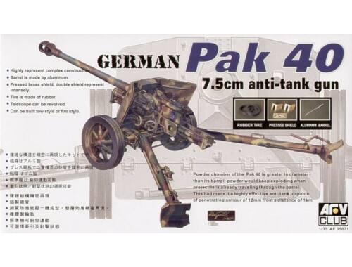 AFV Club PAK40 76 mm GUN 1:35 (AF35071)