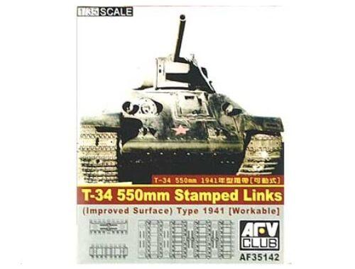 AFV Club T-34 55cm stamped track (workable) 1:35 (AF35142)