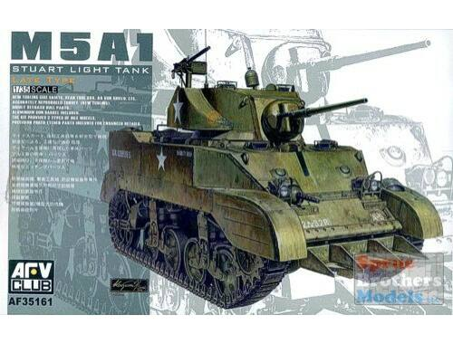 AFV Club US M5A1 Late type w/Hedgerow cutter 1:35 (AF35161)