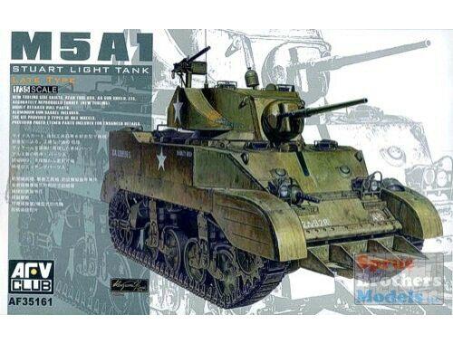 AFV Club US M5A1 Late type w/Hedgerow cutter 1:35 (AF35161)