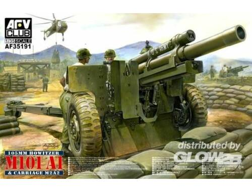 AFV Club M101 A1 105 mm Howitzer   Carriage M2A2 1:35 (AF35191)