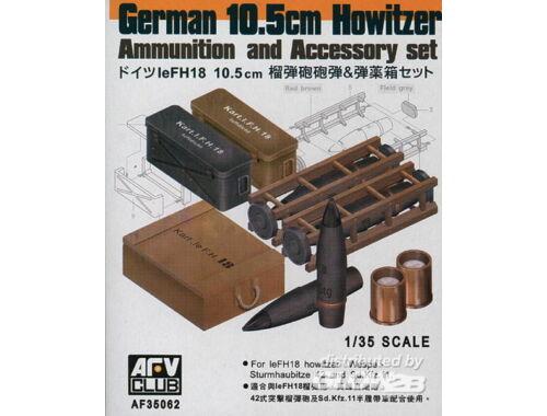 AFV Club 10,5 cm LeFH18 AMMO SET 1:35 (AF35062)