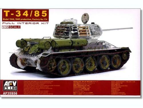 AFV Club T-34/85 Factory 174 with trans. turret 1:35 (AF35S56)