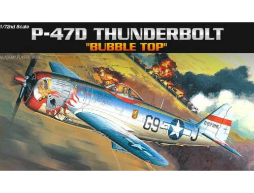 Academy P-47D Thunderbolt Bubble Top 1:72 (12491)