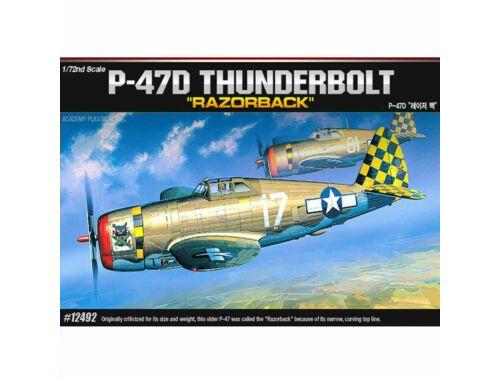 Academy P-47D Thunderbolt Razorback 1:72 (12492)