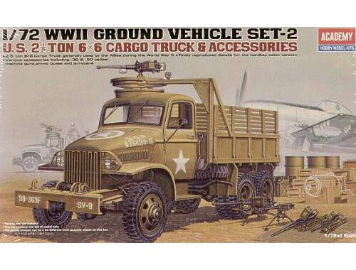 Academy 2,5 ton 6x6 Cargo Truck   Accessories 1:72 (13402)